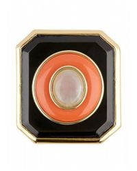 House of Harlow 1960 | Orange Enameled Art Deco Ring | Lyst