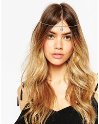ASOS | Metallic Hair Crown With Gem Drop | Lyst