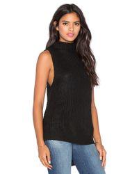 Bishop + Young | Black Gemma Mockneck Sleeveless Sweater | Lyst