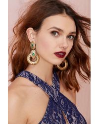 Nasty Gal | Metallic Her Highness Hoop Earrings | Lyst