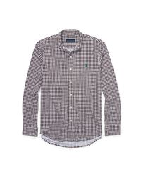 Polo Ralph Lauren - Brown Gingham Cotton Interlock Shirt for Men - Lyst
