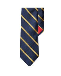 Polo Ralph Lauren | Metallic Striped Silk Repp Tie for Men | Lyst