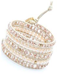 Nakamol - Multicolor Zigor Wrap Bracelet-Pink/Cream - Lyst