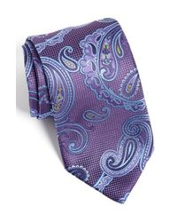 David Donahue | Purple Paisley Silk Tie for Men | Lyst