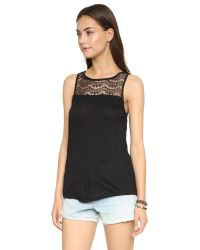 BB Dakota - Black Jack By Rai Lace Tank - Light Heather Grey - Lyst