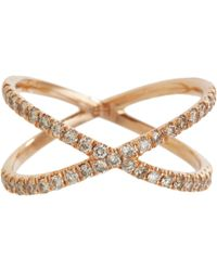 Eva Fehren - Metallic Champagne Diamond Rose Gold Shorty Ring - Lyst