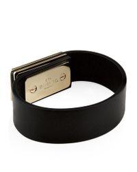 Valentino   Green Leather Rockstud Bracelet   Lyst