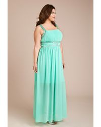 Forever 21 | Green Beaded Maxi Dress | Lyst