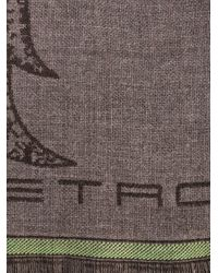 Etro   Brown Paisley-Print Wool Scarf for Men   Lyst
