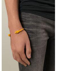 Alexander McQueen | Yellow Twin Skull Bracelet for Men | Lyst