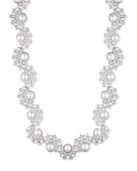 Givenchy | Metallic Faux Pearl Collar Necklace | Lyst
