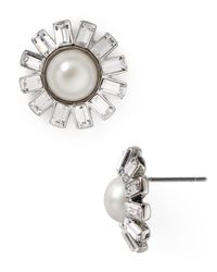 Ralph Lauren - Metallic Lauren Floral Stud Earrings - Lyst