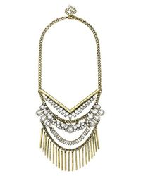 BaubleBar | Metallic 'cieia' Bib Necklace - Antique Gold | Lyst