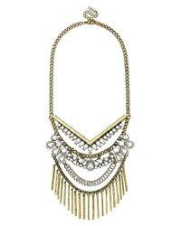 BaubleBar - Metallic 'cieia' Bib Necklace - Antique Gold - Lyst