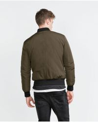 Zara | Natural Bomber Jacket for Men | Lyst