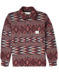 Neighborhood - Red Woven-Wool Overshirt for Men - Lyst