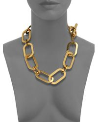 Michael Kors | Metallic Cityscape Chains Large Link Statement Necklace | Lyst