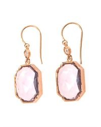 Irene Neuwirth | Purple Diamond, Rose De France & Gold Earrings | Lyst