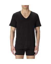Sunspel | Black Men's Superfine Cotton Low V-neck Underwear T-shirt for Men | Lyst