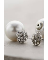 Anthropologie - White Pearl-backed Studs - Lyst