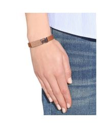 Marc By Marc Jacobs - Brown Standard Supply Leather Bracelet - Lyst