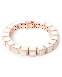Eddie Borgo | Pink Rose Gold-plated Agate Cube Bracelet | Lyst