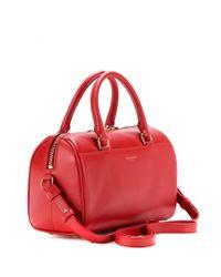 Saint Laurent - Red Duffle 3 Mini Leather Bowling Bag - Lyst