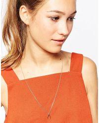 Astrid & Miyu - Metallic Gold Plated Wishbone Necklace - Lyst