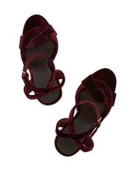 Tory Burch - Red Bowood Sandal - Lyst