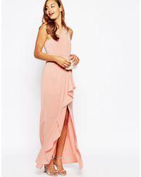 ASOS   Pink Wedding One Shoulder Sexy Slinky Maxi Dress   Lyst