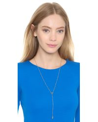 Rebecca Minkoff | Metallic Beaded Y Necklace | Lyst