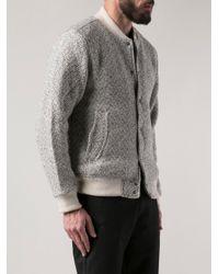 Timberland - Gray Johansen Varsity Jacket for Men - Lyst