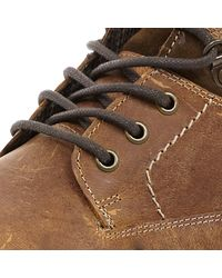 River Island - Brown Tan Lace Up Worker Boots for Men - Lyst