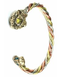 Sibilla G Jewelry | Metallic Sibilla G Good Luck Fish Handcrafted Tricolor Braided Bangle | Lyst