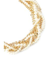 Forever 21 | Metallic Faux Pearl Twisted Necklace | Lyst
