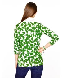 kate spade new york | Green Garden Leaves Cardigan | Lyst