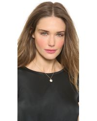 Jamie Wolf - Metallic Small Pave Octagon Necklace - Gold - Lyst