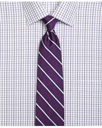 Brooks Brothers | Purple Framed Rep Stripe Tie for Men | Lyst