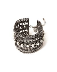 Forever 21 | Metallic Layered Mixed Chain Bracelet | Lyst