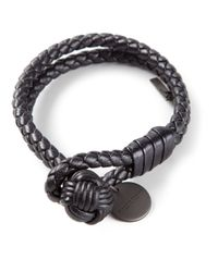 Bottega Veneta | Gray Braided Bracelet | Lyst