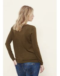 Violeta by Mango | Green Bead Sweater | Lyst