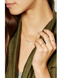 Jennifer Meyer | Metallic 18-Karat Gold Diamond Four-Leaf Clover Ring | Lyst