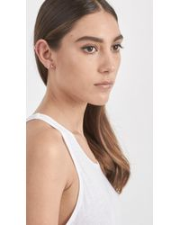 Loren Stewart | Metallic Diamond Bar Ear Cuff | Lyst