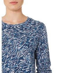Linea Weekend | Blue Cooley Print Jumper | Lyst
