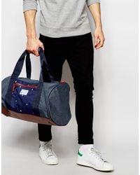 Original Penguin | Blue Duffle Bag In Colourblock for Men | Lyst