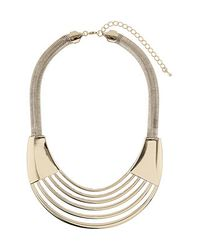 TOPSHOP - Metallic Cut Out Collar - Lyst