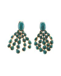 Aurelie Bidermann | Blue 'cherokee' Clip-on Earrings | Lyst