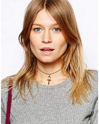ASOS - Metallic Ankh Choker Necklace - Lyst