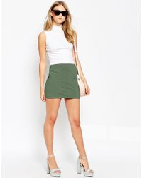ASOS | Natural Block Pocket Utility Pull On Mini Skirt | Lyst