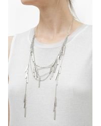 French Connection - Metallic Draped Metal Bar Necklace - Lyst